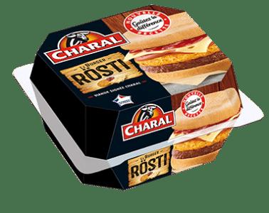 Burger Rosti au boeuf à réchauffer au micro-ondes - charal.fr