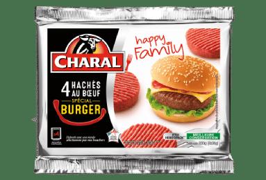 Haché au bœuf spécial burger Happy family, cuisson à la poêle - charal.fr
