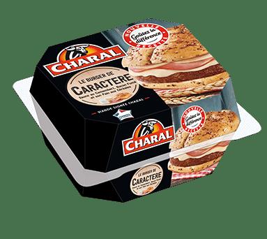 Burger de caractère au bœuf à réchauffer au micro-ondes - charal.fr