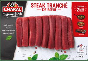 Steak de bœuf tranché : Temps de cuisson, Infos Nutrition, Calorie - charal.fr