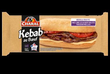 Kebab au bœuf, pain pita, à réchauffer au micro-ondes - charal.fr
