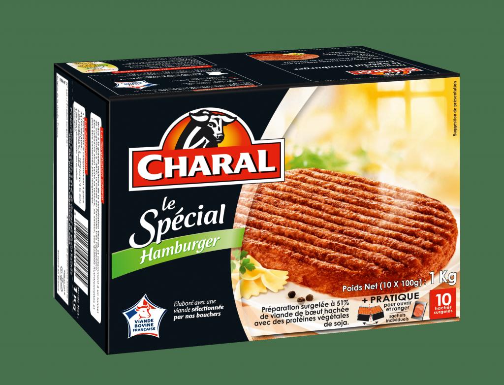 Haché au bœuf Le Spécial Hamburger surgelé, cuisson à la poêle - charal.fr