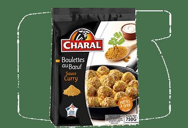 Boulettes au boeuf surgelées sauce au curry, à cuisiner - charal.fr