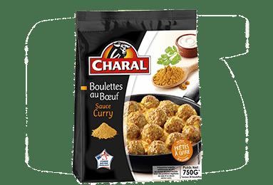 Boulettes au bœuf surgelées sauce au curry, à cuisiner - charal.fr