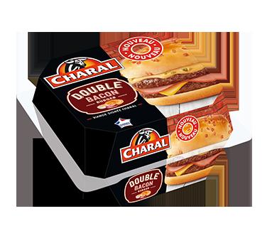 Double Bacon Burger au bœuf à réchauffer au micro-ondes - charal.fr