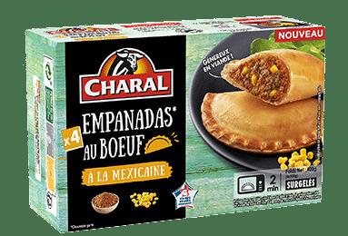 Empanadas au boeuf à la Mexicaine surgelées à réchauffer - charal.fr
