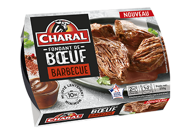 Fondant de bœuf sauce BBQ, à réchauffer au micro-ondes - charal.fr