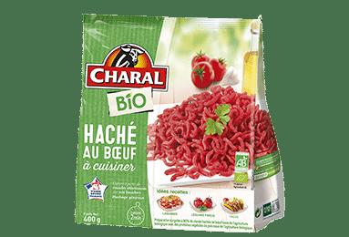 Haché au bœuf BIO surgelé à cuisiner - charal.fr