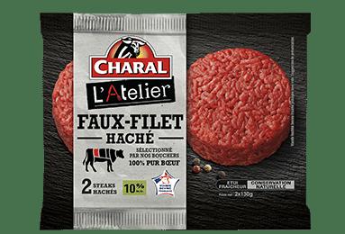 Steak haché de Faux-Filet de bœuf 10% de matière grasse à poêler - charal.fr