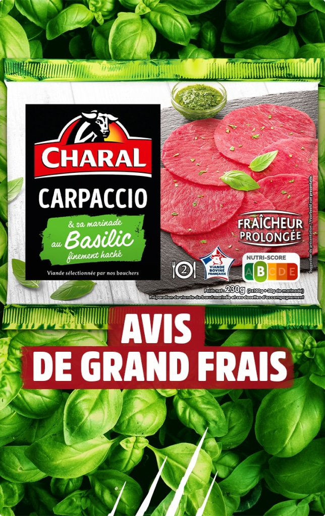 Charal carpaccio